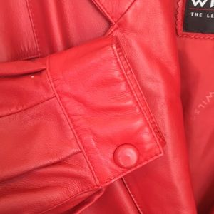 Wilsons Leather Jackets & Coats - Wilson Rare 80's Red Leather Shoulder Pad Jacket